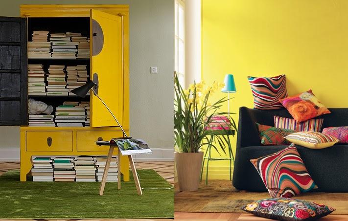 Fotos de Salas Color Amarillo  Ideas para decorar