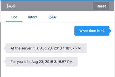 Chatbots: What time is it?