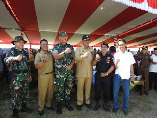 Bupati Dompu Buka TMMD ke 104 Tahun 2019 di Manggalewa