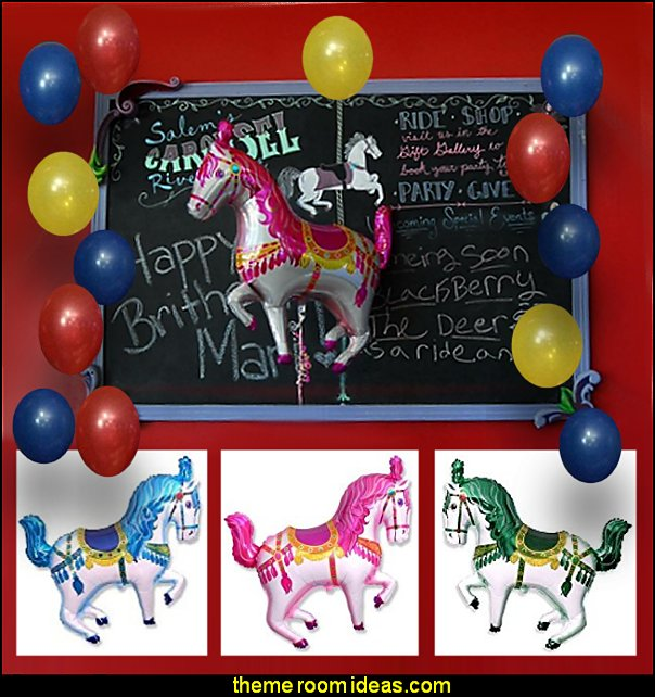 circus horse balloon  circus themed party decorations - carnival circus theme party decorations - circus carnival themed birthday party - Ice Cream theme decor -  circus party supplies - Circus Party Props - circus costumes