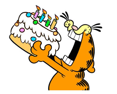 Sakagaze Happy Birthday Garfield
