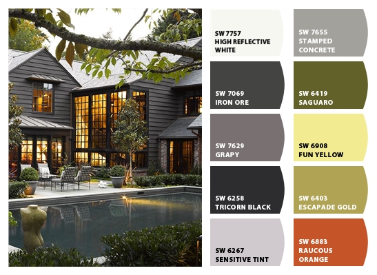 ~dark exterior paint colors~