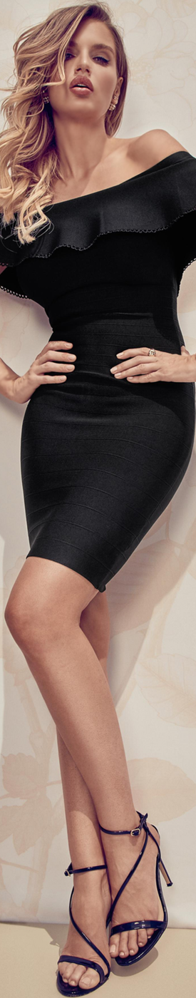 MARCIANO MELDON BANDAGE DRESS BLACK