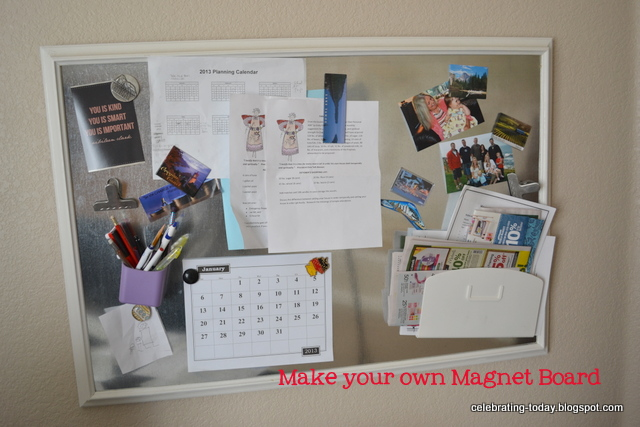 Celebrating Today Make Your Own Magnet Board