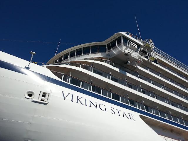 Cruise ship Viking Star docked in Bergen, Norway