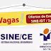 VAGAS DE EMPREGO DO SINE/IDT-SOBRAL