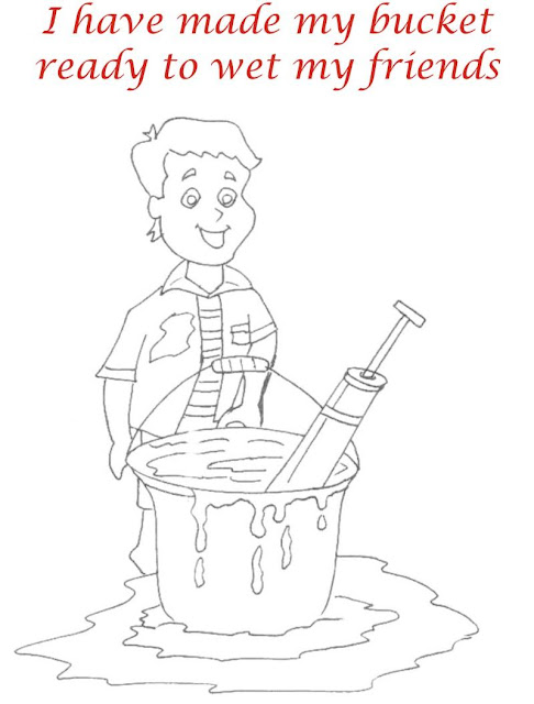 Holi Colouring Page Pictures