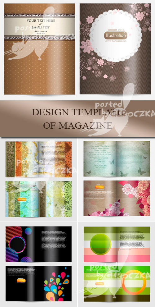 Best vectors clipart 5eps magazine cover template free for Free magazine cover templates downloads