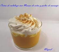 Crema de calabaza con Mousse de setas y polvo de naranja
