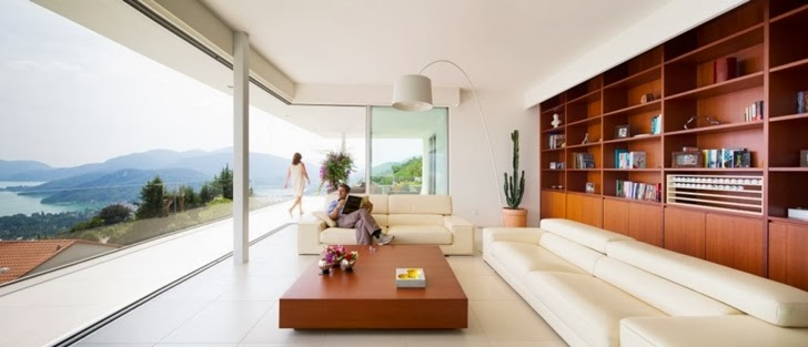 Living room in Beautiful House Lombardo by Philipp Architekten