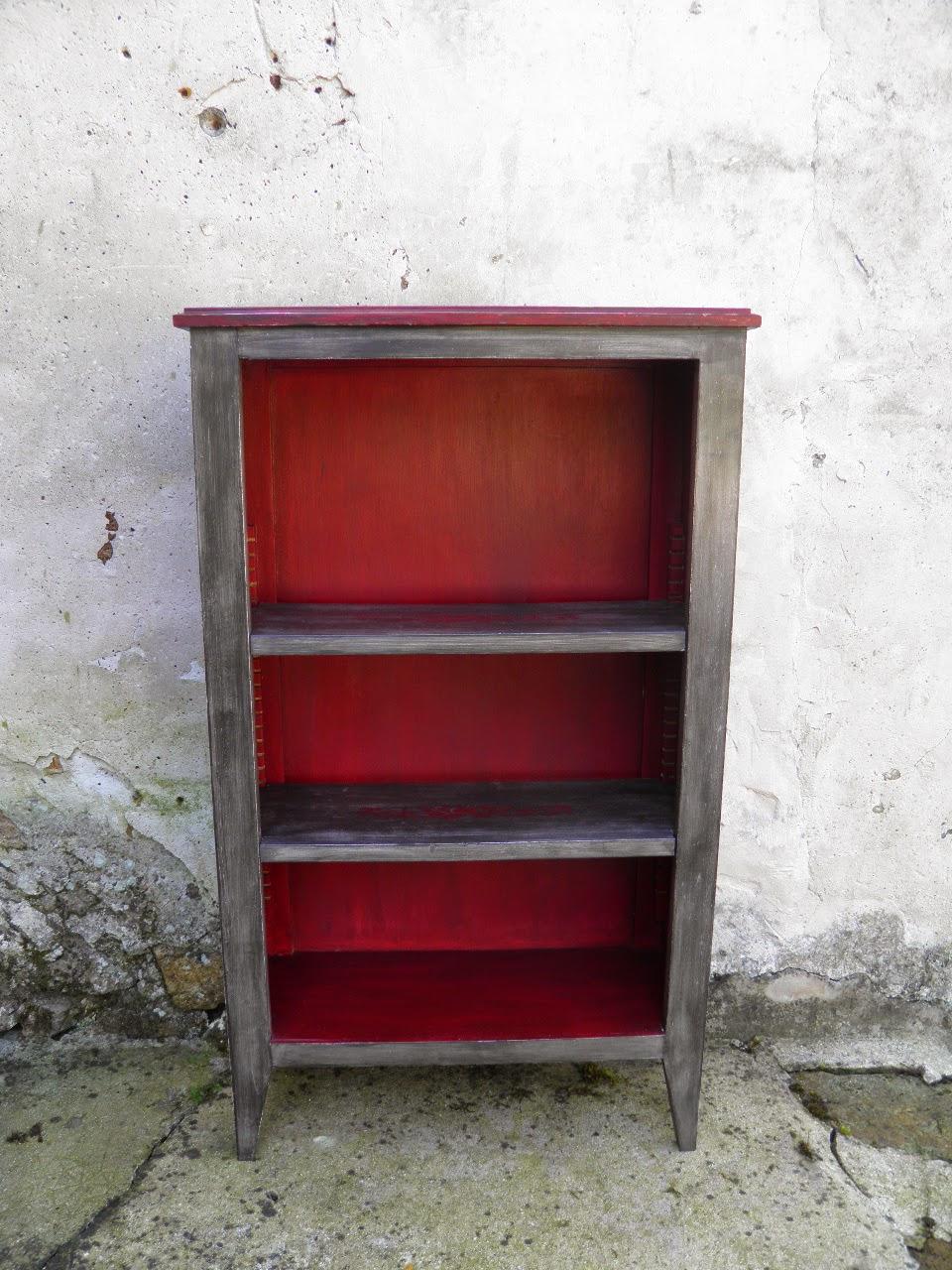 le temps d 39 une patine petite biblioth que meuble d. Black Bedroom Furniture Sets. Home Design Ideas