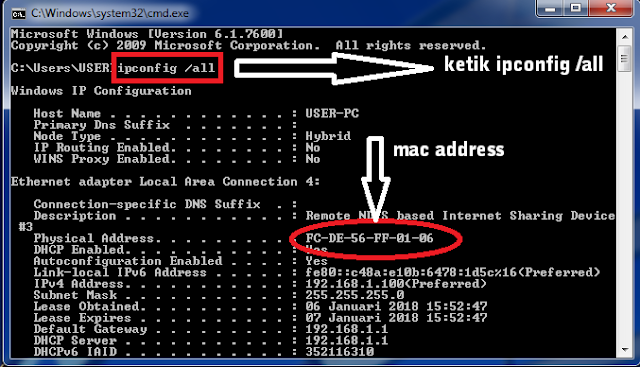 Griya Bayar Mobile, Cara Cek Mac Address Komputer atau Laptop