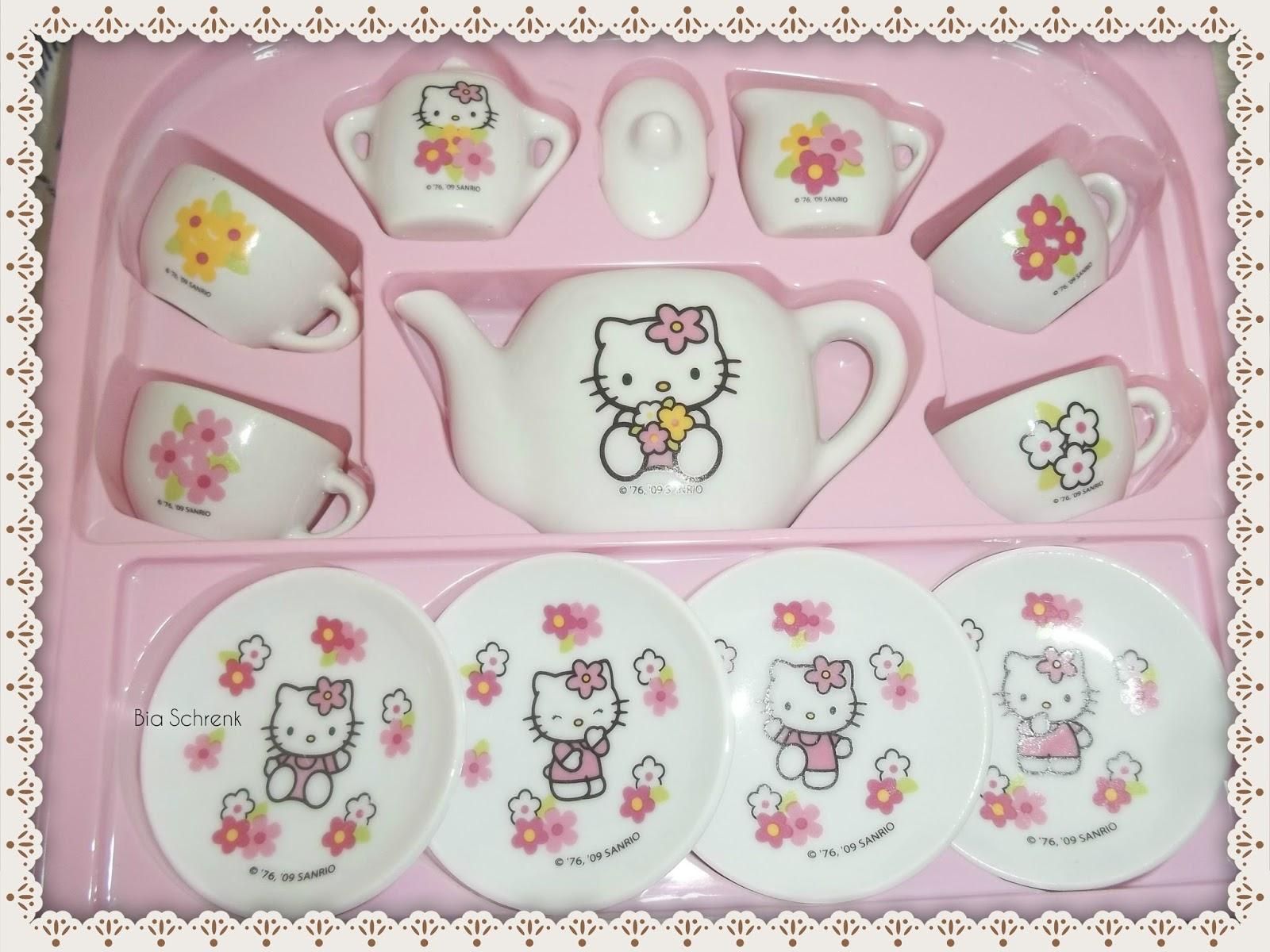 Hausderpuppen Tea Time Hello Kitty Dinette Porcelaine Set