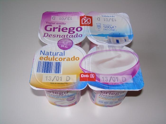 Yogur griego dieta proteica