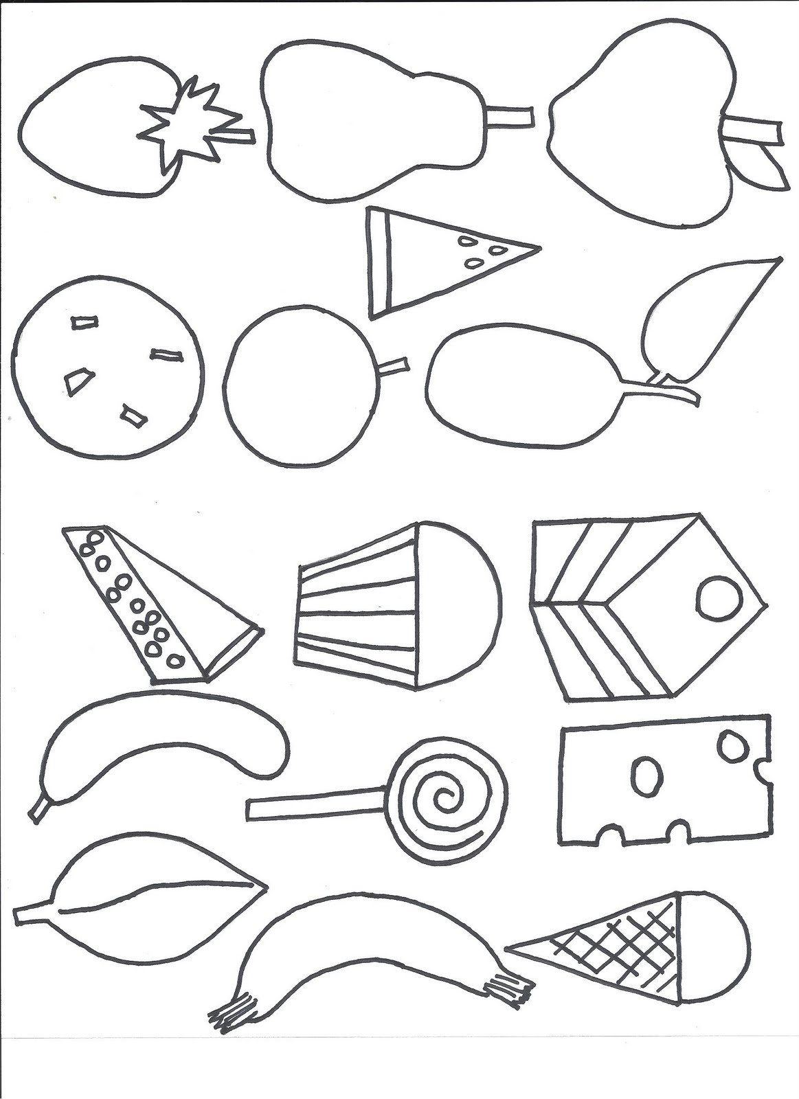 hungry caterpillar coloring pages - photo#1