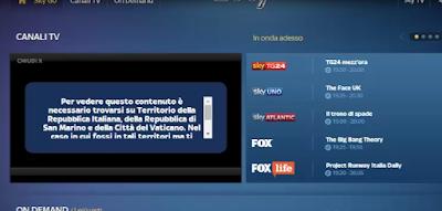 Débloquer et regarder Sky Go Italie en dehors de l'Italie