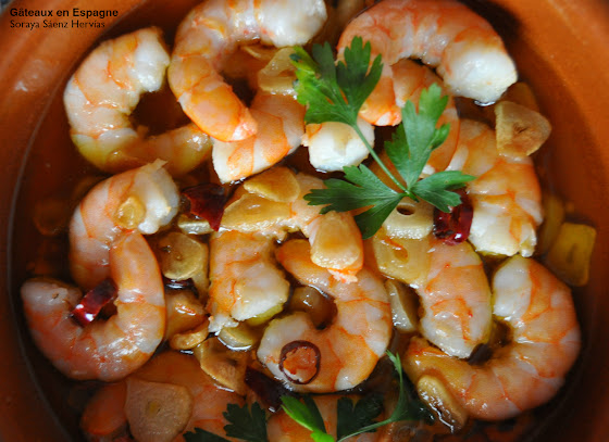 recette gambas ail