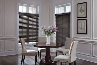 Hunter Douglas Parkland Wood Blinds can be part of a classic decor.