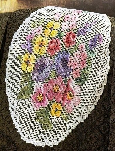 haftowana siatka koronkowa
