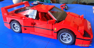 LEGO Ferrari F40 set 10248 side view