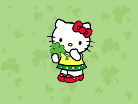 Cute Notepad Wallpaper Hello Kitty St Patrick S Day Hello Kitty Forever
