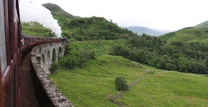 Escocia, Harry Potter, Hogwarts Express, The Jocobite, tren de Harry Potter, viaducto de Glenfinnan,