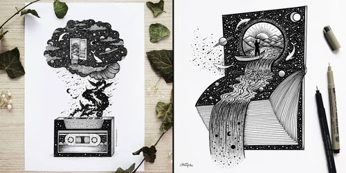 00-Meni-Chatzipanagiotou-Fantasy-and-Surrealism-in-Ink-Illustrations-www-designstack-co