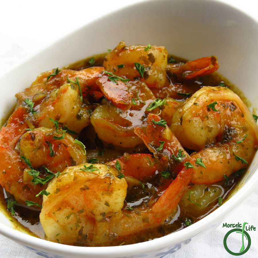 Morsels of Life - Garlic Butter Shrimp - A super scrumptious garlic butter shrimp you can make quickly and easily! Serve with some pasta, rice, or bread and call it a meal.