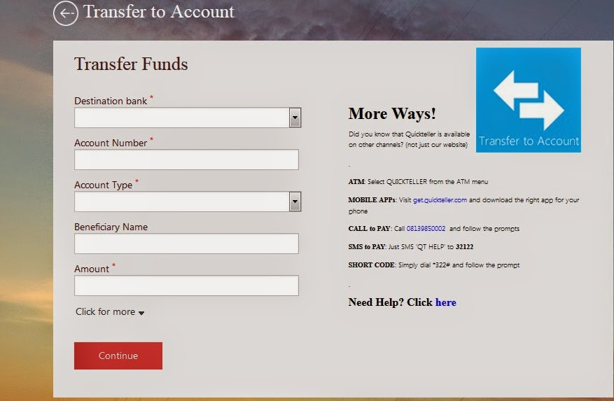 How To Use Quickteller to transfer money to bank accounts in Nigeria