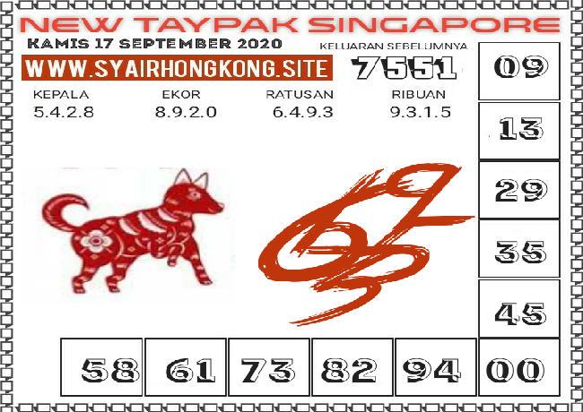 Kode syair Singapore Kamis 17 September 2020 235