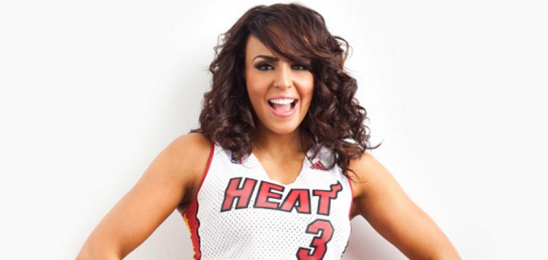 Layla EL Maimi Heat Dancer in NBA season