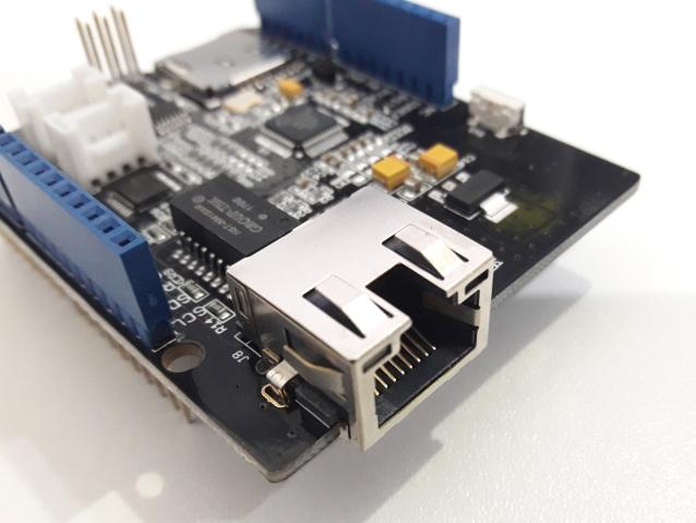 W5500 - Detalhe conector RJ45