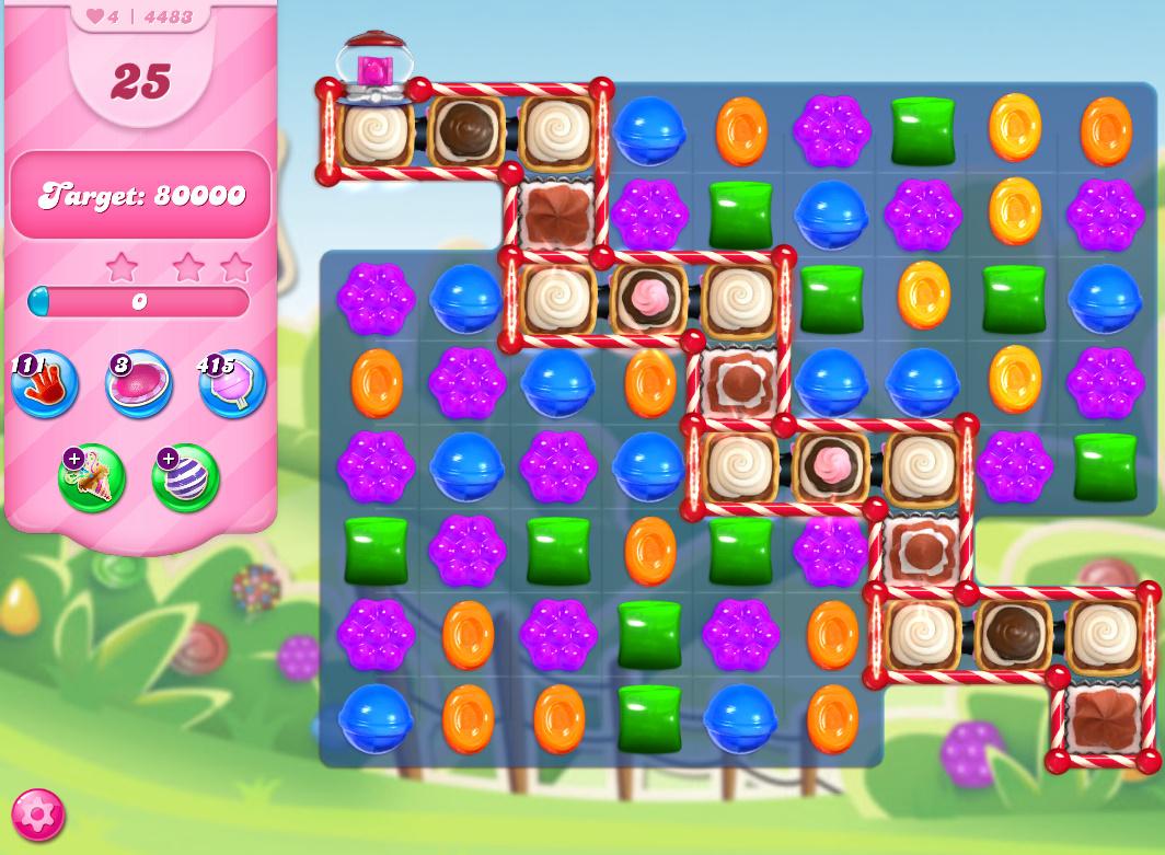 Candy Crush Saga level 4483
