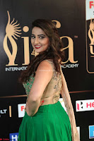 Manjusha in Beautiful Sleeveless Green Anarkali dress at IIFA Utsavam Awards 66.JPG