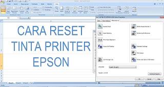 Cara Mudah Reset Tinta Printer Epson Series