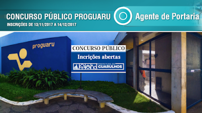 Inscrições concurso PROGUARU S/A 2018.