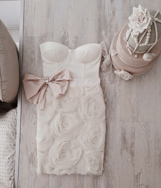 Lovely Little Wedding Dress with Roses and Bow from Mihano Momosa