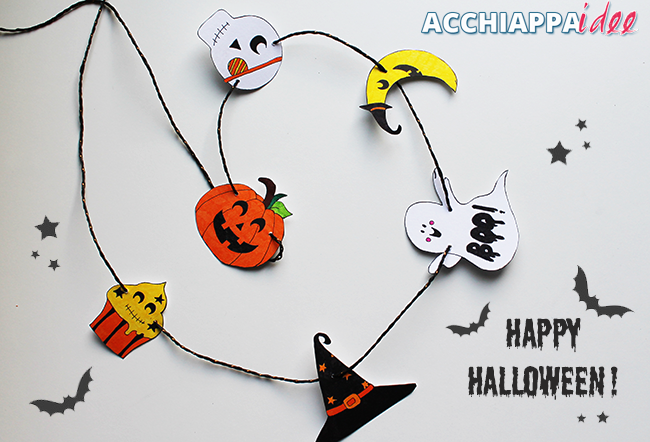 ghirlanda personaggi happy halloween
