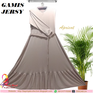 Gamis Jersy Apricot