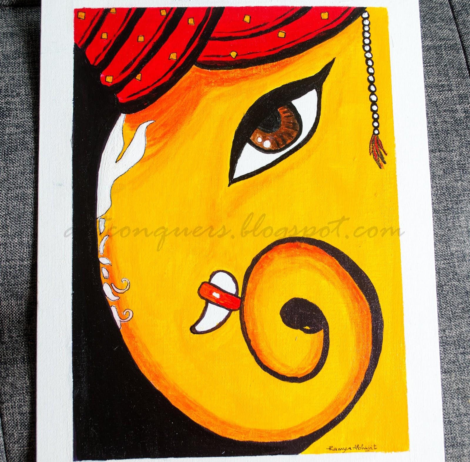 Easy Ganpati Painting Images