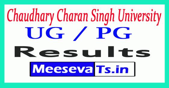 Chaudhary Charan Singh University UG / PG Results