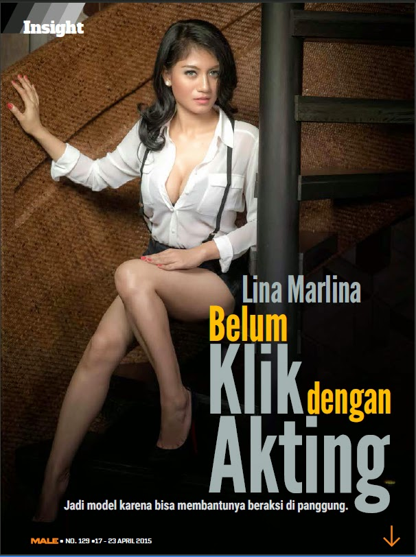 Lina Marlina Pose On  Magazine Edisi 129, 17 - 24 APR 2015