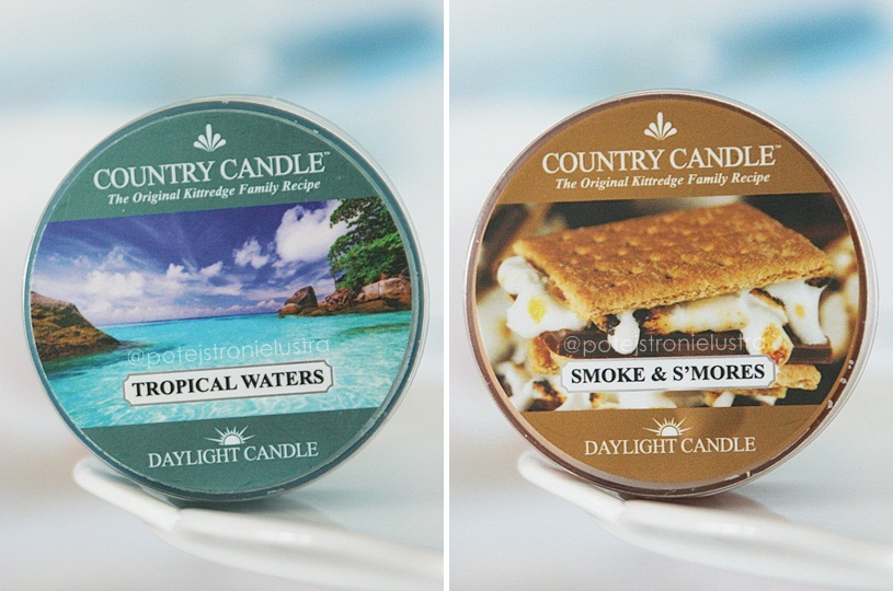 country candle tropical waters i smoke & s'mores