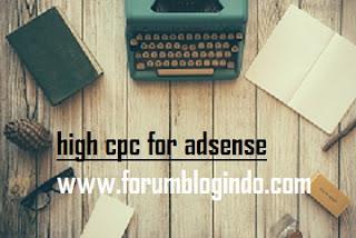 Niche Blog dengan CPC Tinggi Google Adsense