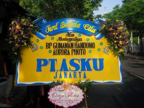 Bunga Papan Dukacita PT Asku Jakarta