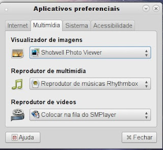 Arquivos preferencias do Ubuntu