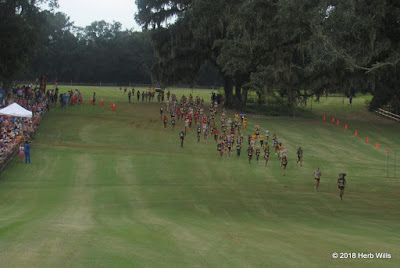 Middle school girls' 3K at Apalachee Regional Park