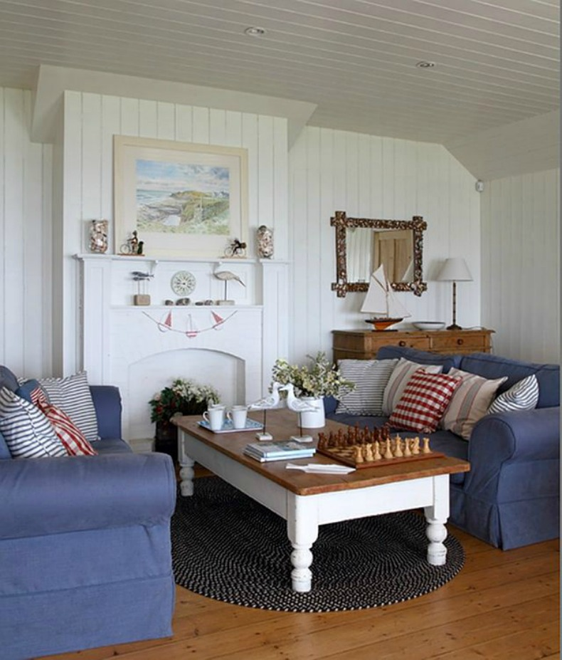 coastal cottage beach house living room