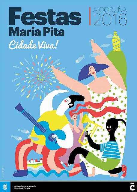 Fiestas Maria Pita - Niños 2016