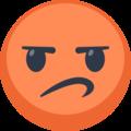 Upset emoji